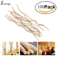 100pcs Premium white Wavy Rattan Reed Fragrance Diffuser Replacement Refill Sticks 7inch(175mm)* 3.5mm