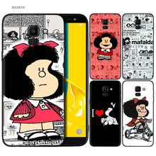 Silikon Case untuk Samsung Galaxy J4 J6 A6 A8 Plus A7 A9 J8 2018 A5 2017 Soft Cover Shell Mafalda(China)