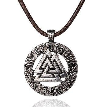 pagan amulet pendant Men necklace Scandinavian Viking jewelry Odin 's Symbol of Norse Viking Warrior Slavic Norway Valknut