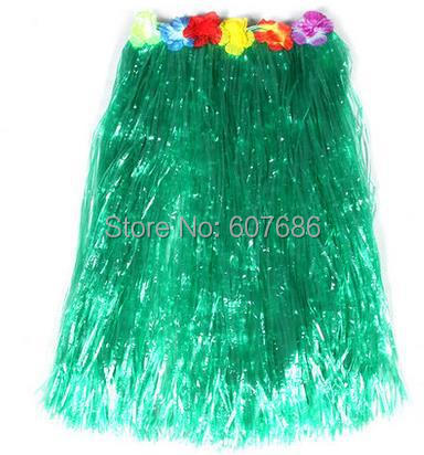Lungo hawaiano Erba Hula Luau Gonna Lei Fancy Dress Beach Party 80cm