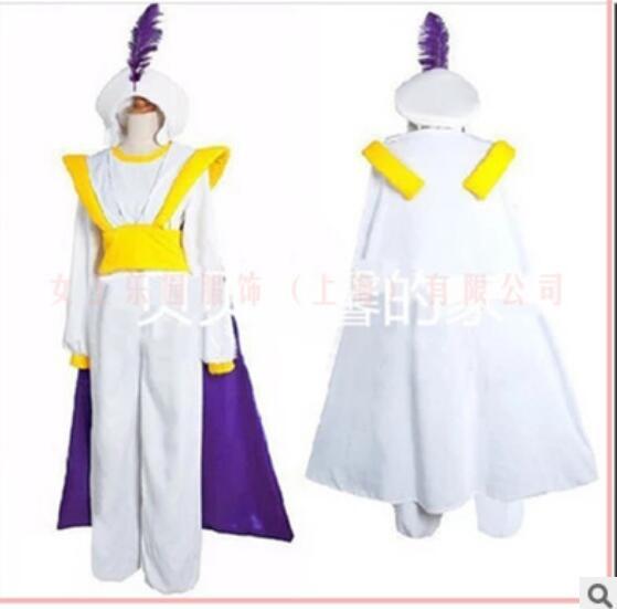 Shippping livre Lâmpada Aladdin Príncipe role-playing Halloween Anime Adulto partido do carnaval do Traje Cosplay Fantasia Traje príncipe Adam