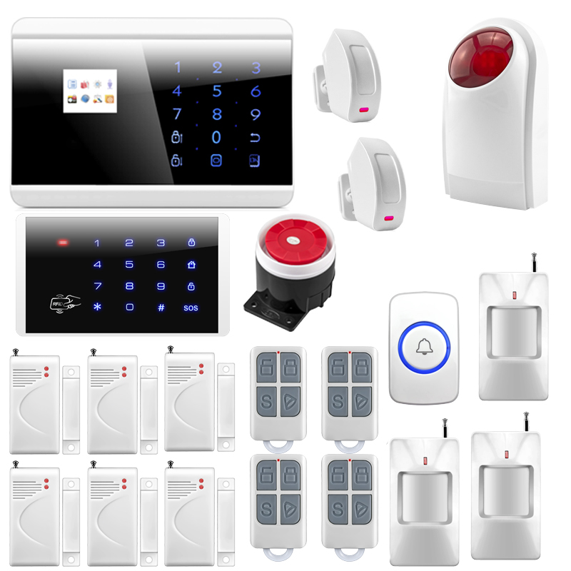 Wireless /wired Home Alarm Systems Security For Smart Home Burglar Security House PIR Motion New Keypad  smart buildings systems for architects owners and builders