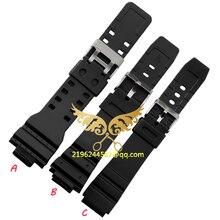 2015 New bracelets mode en Silicone souple lanière boucle bracelet bande 16 mm 18 mm 20 mm 22 mm noir militaire accessoires Hot vente