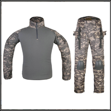 Wargame Battle Dress Uniform Suit Tactical Outdoor Hunting conceal Shirt & Pants With Knee Pads Elbow Pads