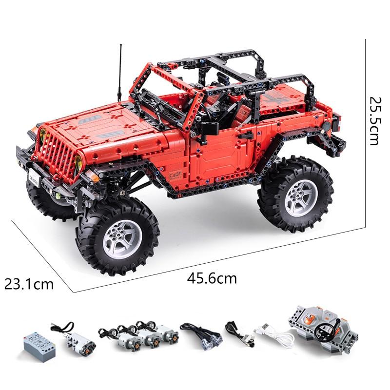RC Off Road Jeep Wrangler Auto Kompatibel legoings Neue Technik serie bausteine set Pädagogisches geburtstage geschenke-in Sperren aus Spielzeug und Hobbys bei  Gruppe 1