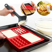 1 piece Family Silicone Waffle Mold Maker Pan Microwave Baking Cookie Cooking Tools Kitchen Accessories  A2