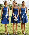New Royal Blue Bridesmaid Dresses Sexy Off The Shoulder Short Dresses For Wedding Guests Unique Short Dresses For Wedding party