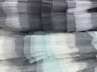 51.2 Wide Layers Mesh Lace Fabric Ruffles Embroidered Tulle Lace Fabric Bridal Lace Fabric Gauze Fabric 2 Colors