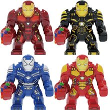 DC Marvel Avengers Super Heroes Homem de Ferro Mech Blindado Infinity Gauntlet Spiderman DIY Grandes Figuras Building Blocks Brinquedos Presentes(China)