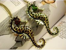2013 New Arrival Hot Selling Bronze Sea Horse Pendant Necklace N185(China)