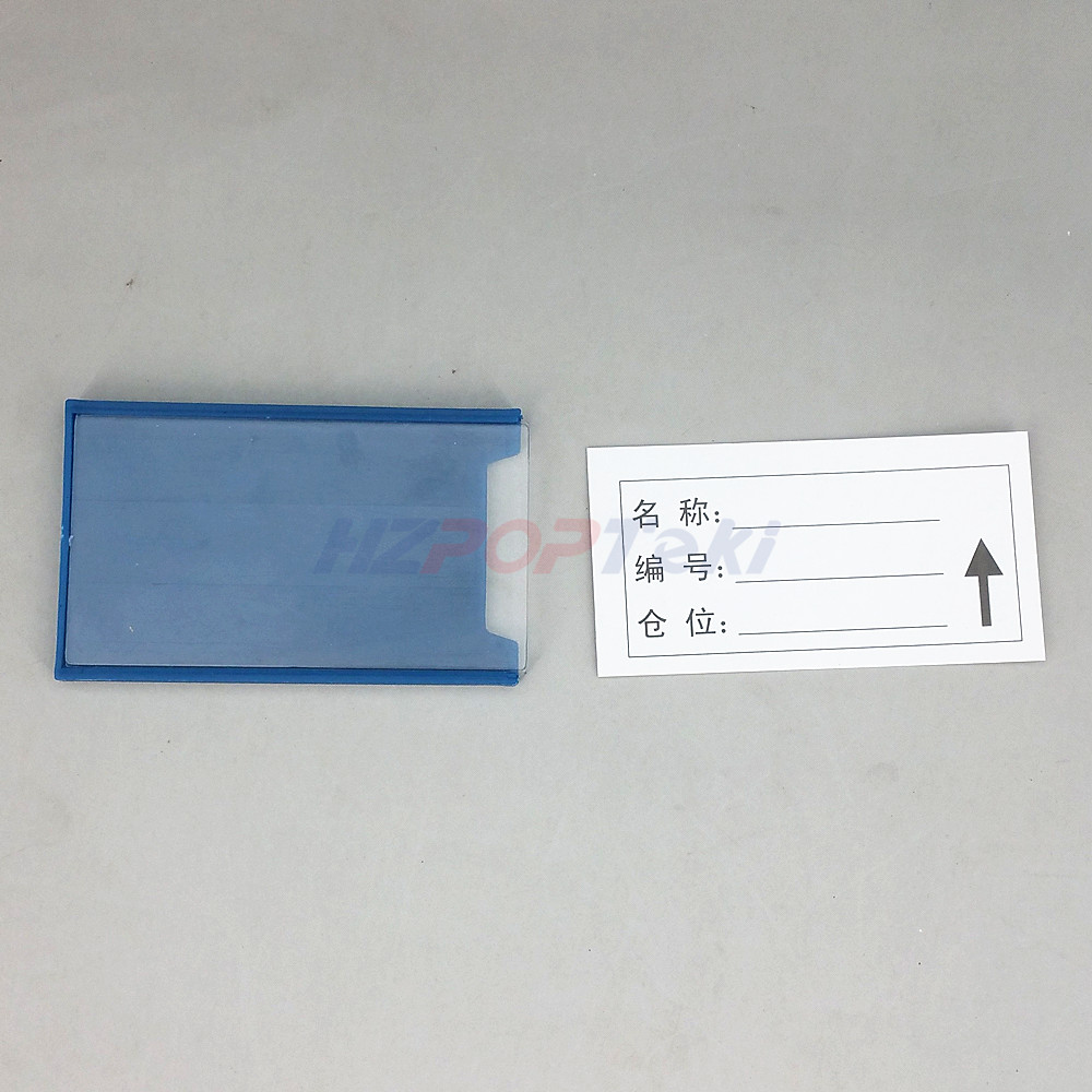 Image 4 - Multi Choise Plastic Warehouse Storage Shelf Item Label Tag Tab Sign Name Card Holders by Soft Strong Magnetic on Back 20pcs-in Badge Holder & Accessories from Office & School Supplies