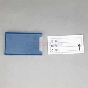 Image 5 - Multi Scelta di Plastica Magazzino di Stoccaggio Scaffale Elemento Etichetta Tag Tab Segno Titolari di Carta di Nome da Morbido Forte Magnetico su posteriore 20 pcs
