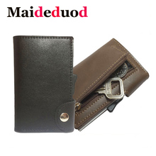 2019 NEW Fashion Cow leather Card Holder Case ID Metal Credit Card Holders With RFID Business Aluminum Wallet for Credit Card