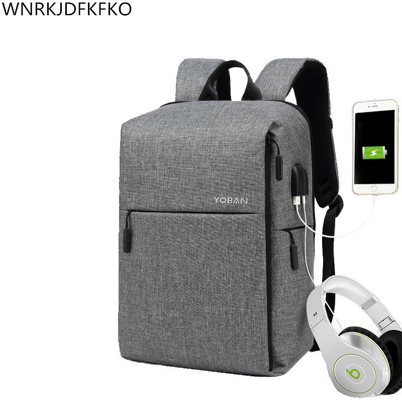 The New Anti-theft Backpack Smart Usb Dual Interface Charge Backpack Men's Business Waterproof Oxford Fabric Laptop Backpac