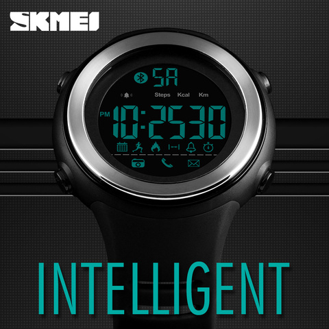 SKMEI Bluetooth Smart Watch Men Pedometer Stopwatch Waterproof Sports Watches Digital LED Electronics Watches For Men Smartwatch Lahore
