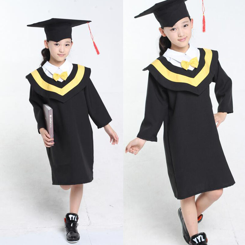 5f363a1530d Primary School Children s Gown of Doctor Degree Kindergarten Academic Dress  with Hat University Graduation Ceremony-in School Uniforms from Novelty ...