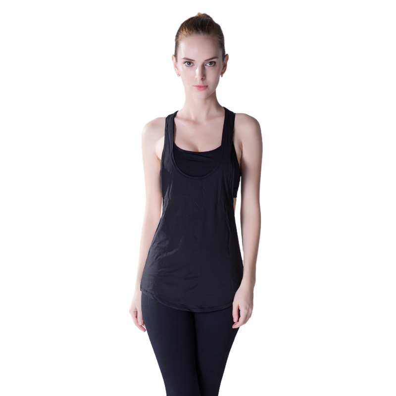 7efb412613 LASPERAL Women Yoga Shirts Sleeveless Running Sports Loose Blouse Tank Top  Sexy Quick-dry Vest Fitness Workout Jogging Gym Tops