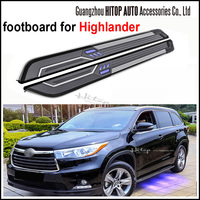 Running Board Side Bar Side Step For Highlander With LED Light Latest Model Can Load 400kgs