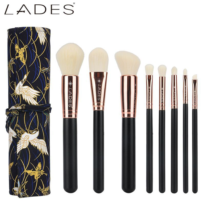 Professional Makeup Brushes Kit Cosmetics Beauty Eyebrow Shadow Brush 8PCS Soft Hair High Quality Makeup Brushes with Case nature hair makeup brush set 22pcs high quality red beauty tools kit with case