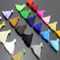 50pcs/lot 25mm Mixed Cotton Tassels Earrings Silk Charm Pendant Satin Tassels for DIY Jewelry Making Findings Materials