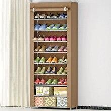 Минималистские украшения гостиной из нетканого материала для хранения обуви Организатор мебель Многофункциональный обувной шкаф 9 этажный шкаф для обуви