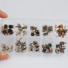 50 шт. 4 провода 2 фазы dc микро шаговый двигатель 10 типов 5 шт. каждый Миниатюрный шаговый двигатель ассорти с коробкой