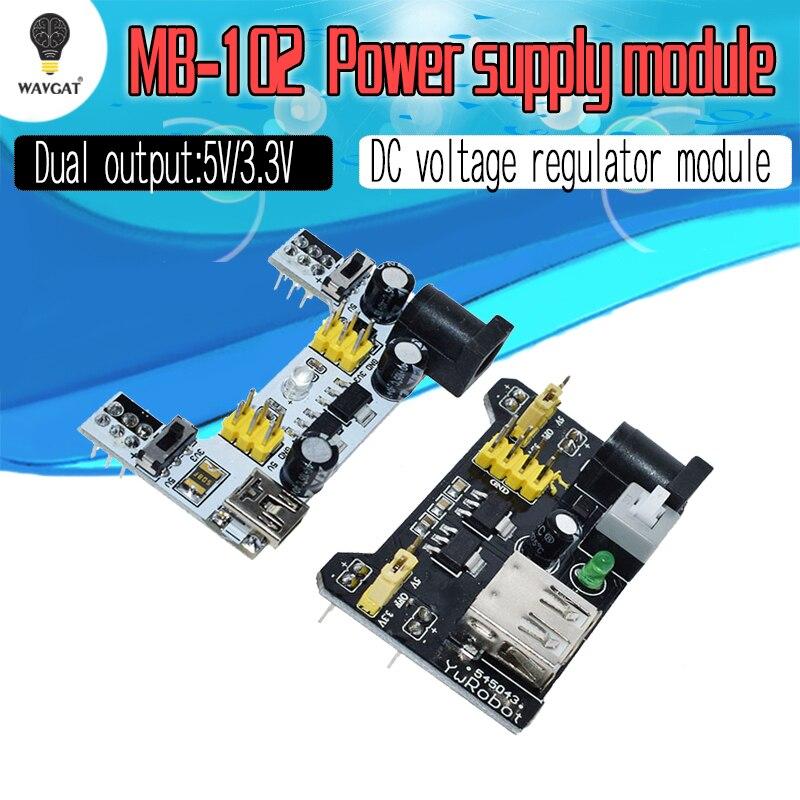 MB102 Breadboard Power Supply Module White Breadboard Dedicated Power Module 3.3V 5V MB-102 Solderless Bread Board For Arduino