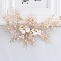 2017 New Design Gold Branch Hair Jewelry Wedding Accessories Hair Clip Bridal Headpieces Women Comb