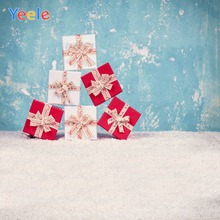 Yeele Christmas Photocall Party Gift Fade Wall Snow Photography Backdrops Personalized Photographic Backgrounds For Photo Studio