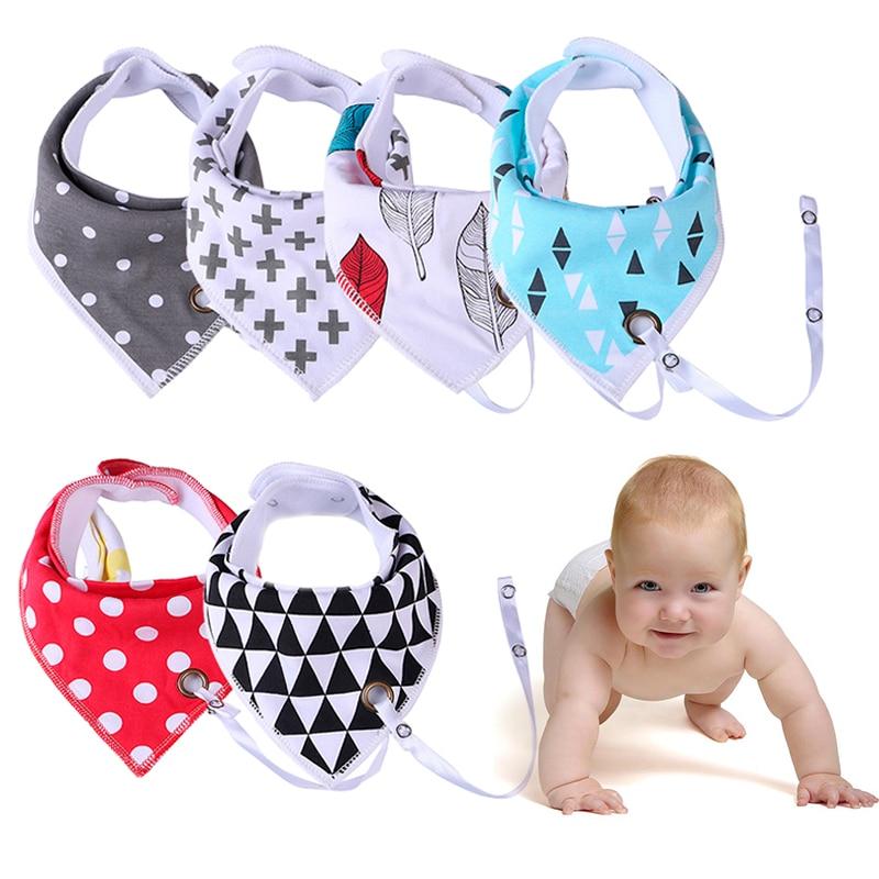 Cute Baby Bandana Burp Cloths Toddler Triangle Infant Cotton Bib LD