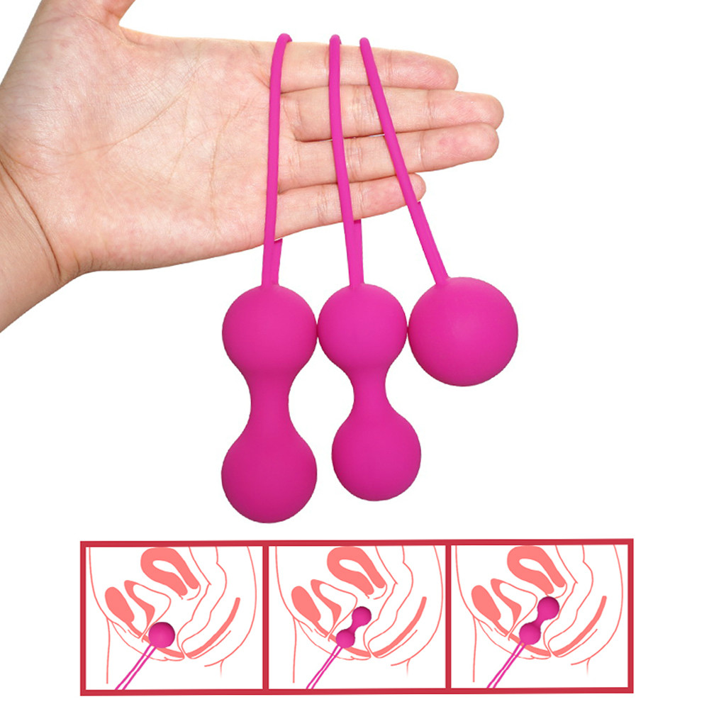 Silicone Ben Wa Balls Vagina Tightening Kegel Exerciser Vibrator Ball Vaginal Balls Trainer Sex Toys For Women Adult Sex Product