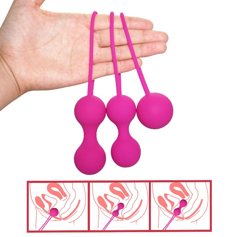 Silicone Ben Wa Balls Vagina Tightening Kegel Exerciser Vibrator Ball Vaginal Balls Trainer Sex Toys For Women Adult Sex Product