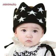 Chapéus bonitos Do Bebê Das Meninas Dos Meninos Enfant Coroa Caps Crianças  Chapéu Do Inverno Infantil 96e19c5d6d5