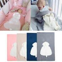 Bonito do bebê cobertores infantis coelho macio morno lã swaddle crianças toalha de banho adorável bebê recém-nascido fundamento adereços cobertores do bebê