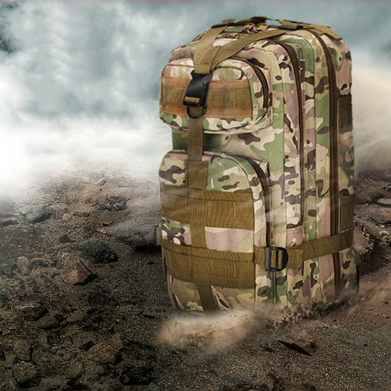 Men's 3P Outdoor Military Tactical Assault Pack Backpack Army Molle Waterproof Camouflage Bag Trekking Rucksacks for Camping promotional camping bags unisex outdoor waterproof molle bagpack military 3p tactical backpack big assault travel bag packsack