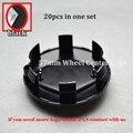 20Pcs Car wheel hub cap 57mm Black Renault Megane Clio Laguna Twingo Espace Auto Wheel Rim Emblem ABS wheel center cover