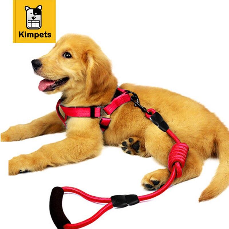 Kimhome pet correa de perro y el collar de plomo del animal doméstico para el me