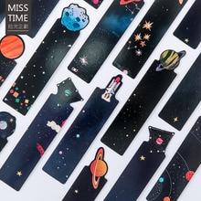 30 шт./компл. маленькая вселенная сообщение творческий в форме планета Закладка для книги школьные канцелярские принадлежности для детей студентов красивые подарки