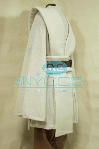 Star Wars Kenobi Jedi Tunic Brown Brown Cloak Robe Movie Halloween - Կարնավալային հագուստները - Լուսանկար 4