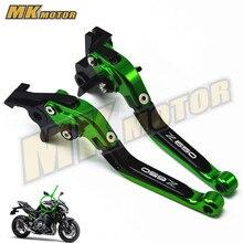 CNC Adjustable Foldable Extendable Motorcycle Brake Clutch Levers For Kawasaki  Z650 z650 Z 650 Ninja650 2017 8 color