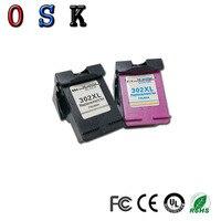Repuesto de cartucho de tinta OSK 302XL para hp 302 para hp 302 xl para Deskjet 1111 1112 2130 2135 1110 3630  3632  3830