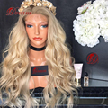 10A Высокое Качество Фронта Шнурка Блондинка Человеческих Волос Парики Virgin Перуанские блондинка Полный Шнурок Человеческие Волосы Парики 613 Glueless Полный Парик Шнурка