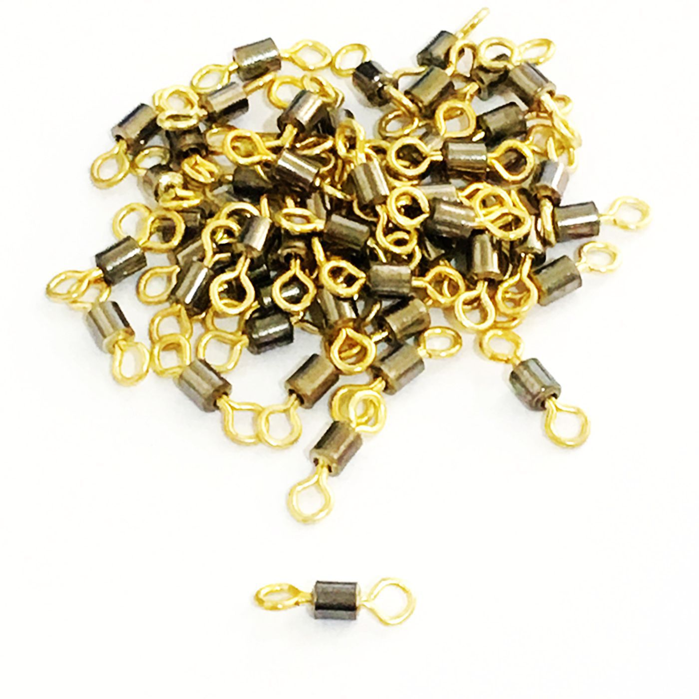 100PCS/LOT Braid Knotless Connectors Fishing Line Wire Barrel Swivel Fishing Tackle Fishhooks Crap Connector Fishing