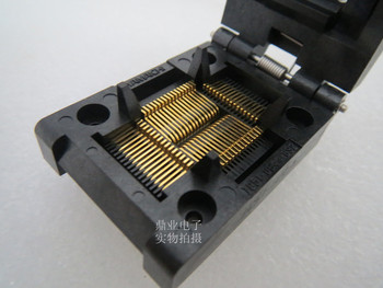 Clamshell 100%New&Original IC51-0644-824-4 QFP64/TQFP64 YAMAICHI  IC Burning seat Adapter testing seat Test Socket test bench