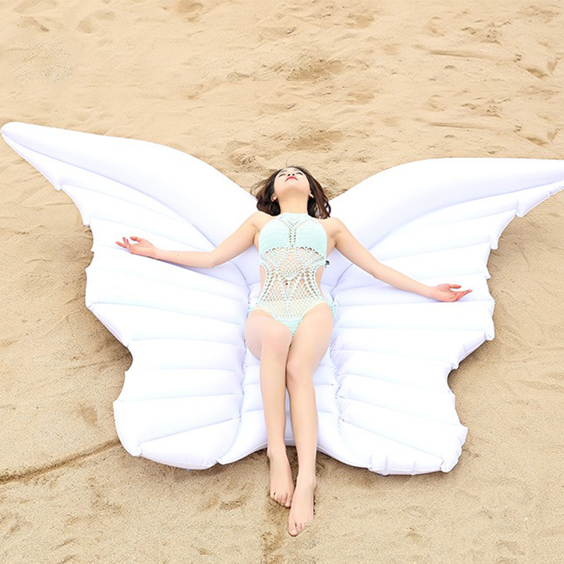 2019 New Inflatable Pool Rafts Butterfly Water Inflatable Ride ons Swimming Ring Floating Bed Adult Child Mount Floating Row Toy