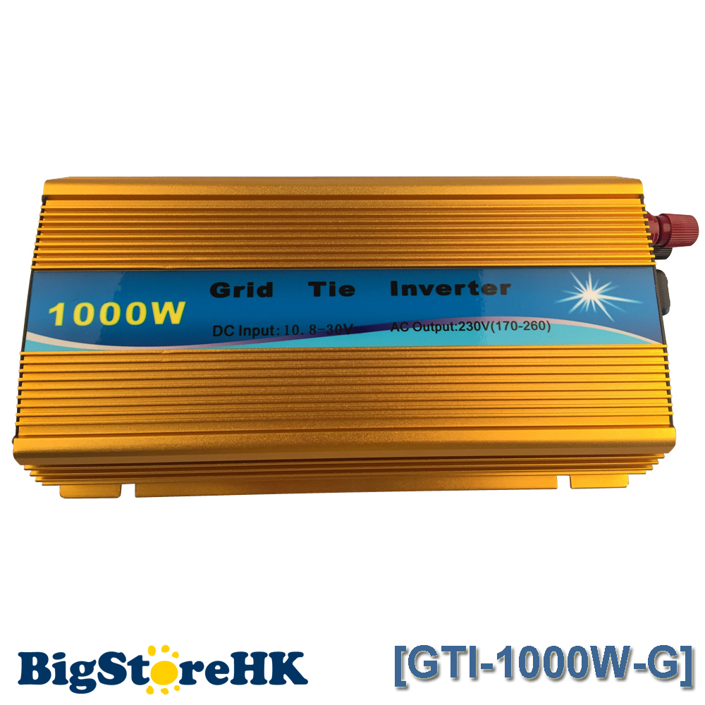 1000W Golden MPPT Grid Tie Inverter Pure Sine Wave 110V Output 18V Input Micro on Grid Tie Inverter 18V 36 Soar Cells mini power on grid tie solar panel inverter with mppt function led output pure sine wave 600w 600watts micro inverter