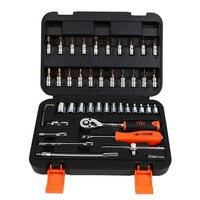 46PC Spanner Socket Set 1 4 Car Repair Tool Ratchet Wrench Set Cr V Hand Tools
