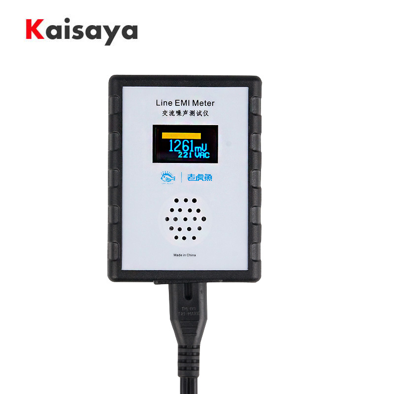 OLED Digital Display Mains Noise Tester EMI Measuring Instrument Broadband AC Power Supply Ripple Analyzer line