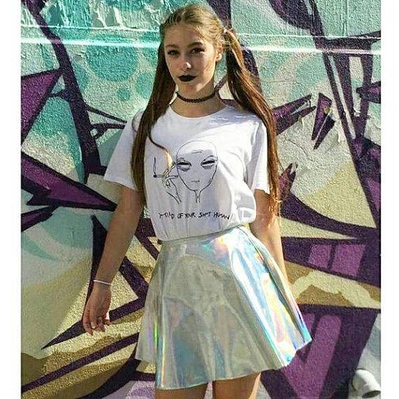 Новый женский футболка 18 стиль для чужой печати забавный повседневная et футболки для леди белый плюс размер топ тройники hipster