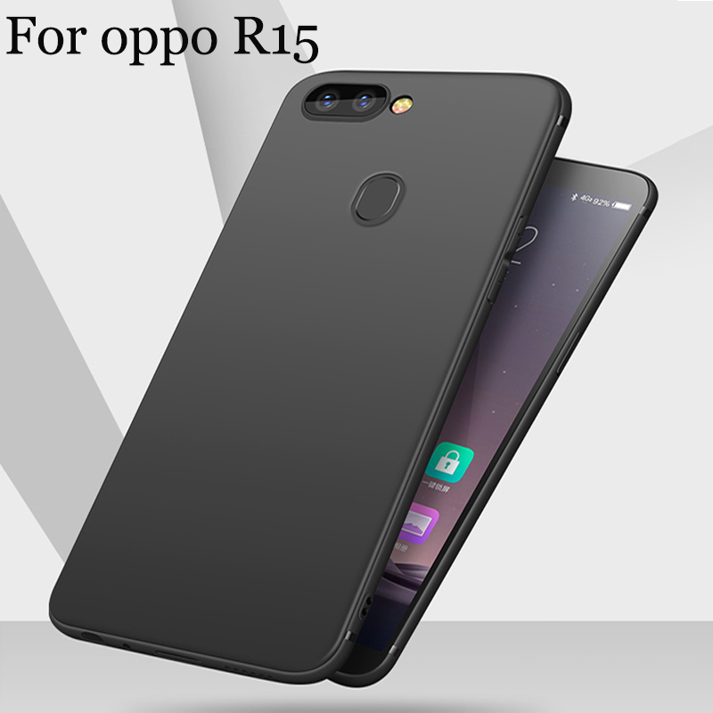 Fashion ultra thin phone cases For oppo R15 case TPU soft back cover For oppo R 15 shell case cover full capas fundas